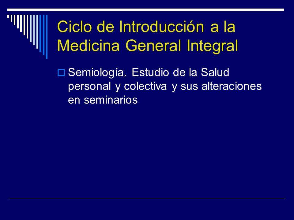 Ciclo de Introducción a la Medicina General Integral