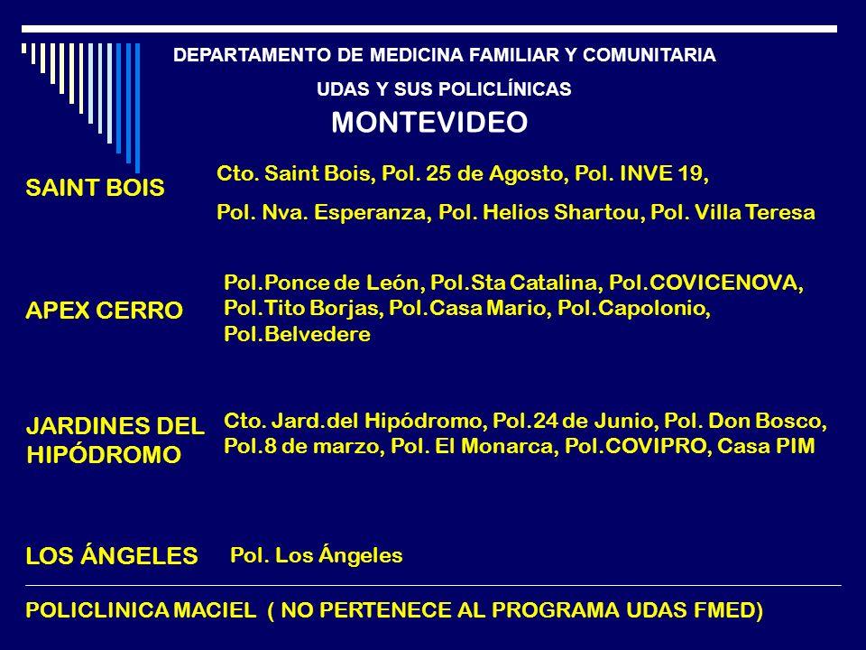 MONTEVIDEO SAINT BOIS APEX CERRO JARDINES DEL HIPÓDROMO LOS ÁNGELES