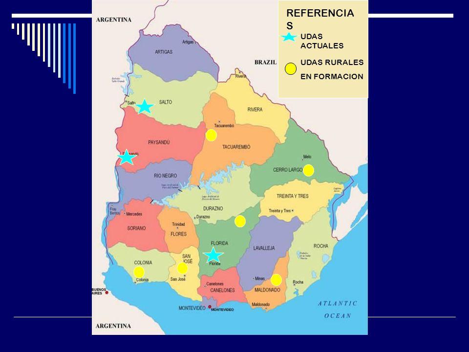 REFERENCIAS UDAS ACTUALES UDAS RURALES EN FORMACION