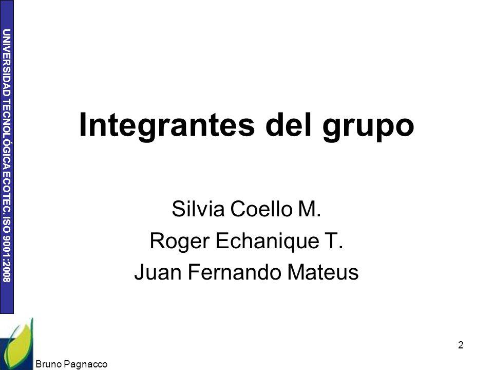 Silvia Coello M. Roger Echanique T. Juan Fernando Mateus