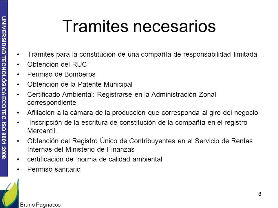 Tramites necesarios Trámites para la constitución de una compañía de responsabilidad limitada. Obtención del RUC.