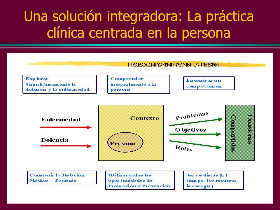 Una solución integradora: La práctica clínica centrada en la persona