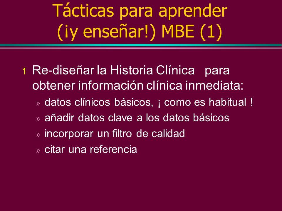 Tácticas para aprender (¡y enseñar!) MBE (1)