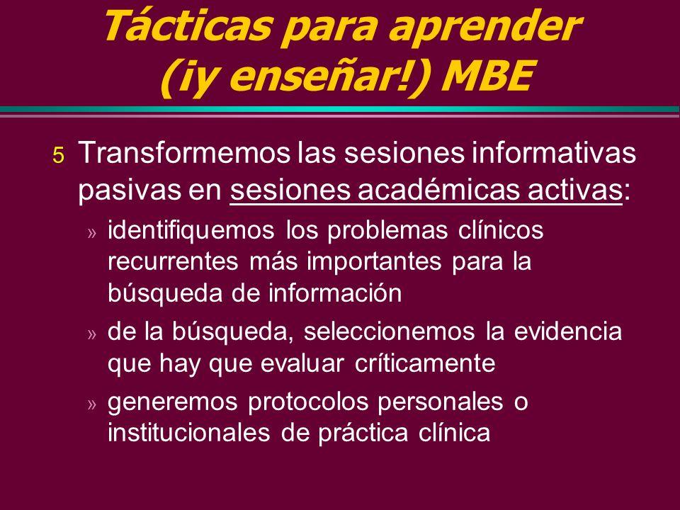 Tácticas para aprender (¡y enseñar!) MBE