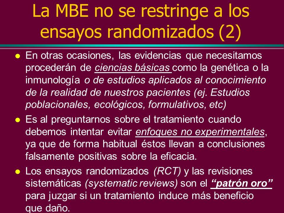 La MBE no se restringe a los ensayos randomizados (2)
