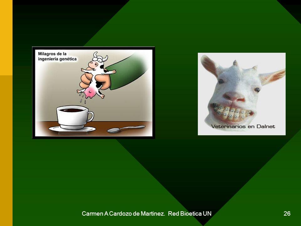 Carmen A Cardozo de Martinez. Red Bioetica UN