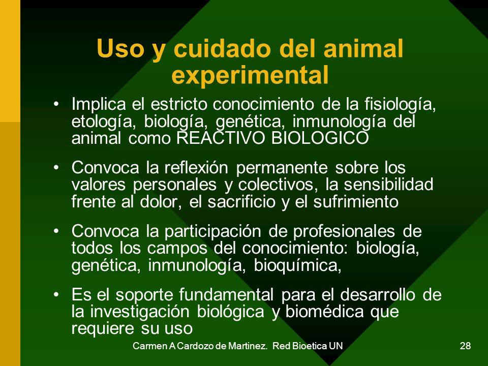 Uso y cuidado del animal experimental