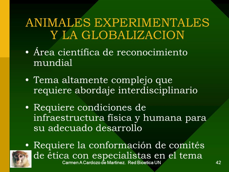 ANIMALES EXPERIMENTALES Y LA GLOBALIZACION