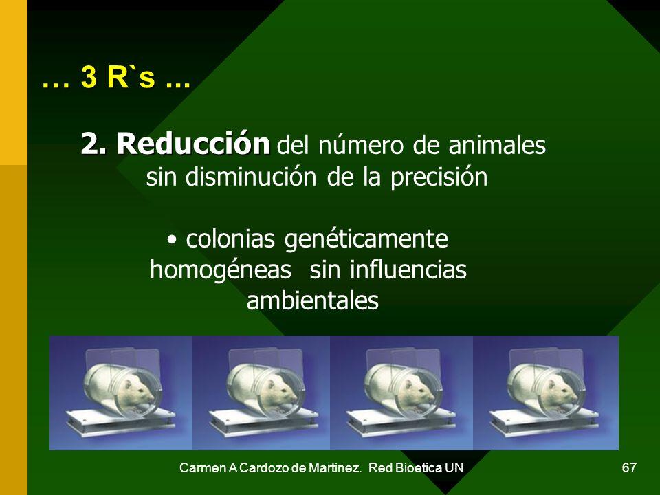 … 3 R`s ... 2. Reducción del número de animales