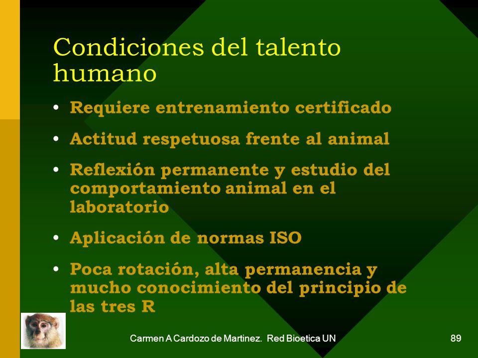 Condiciones del talento humano