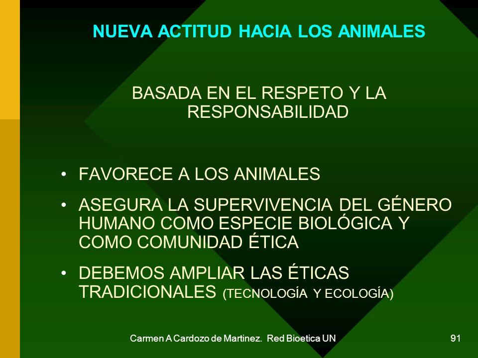 NUEVA ACTITUD HACIA LOS ANIMALES