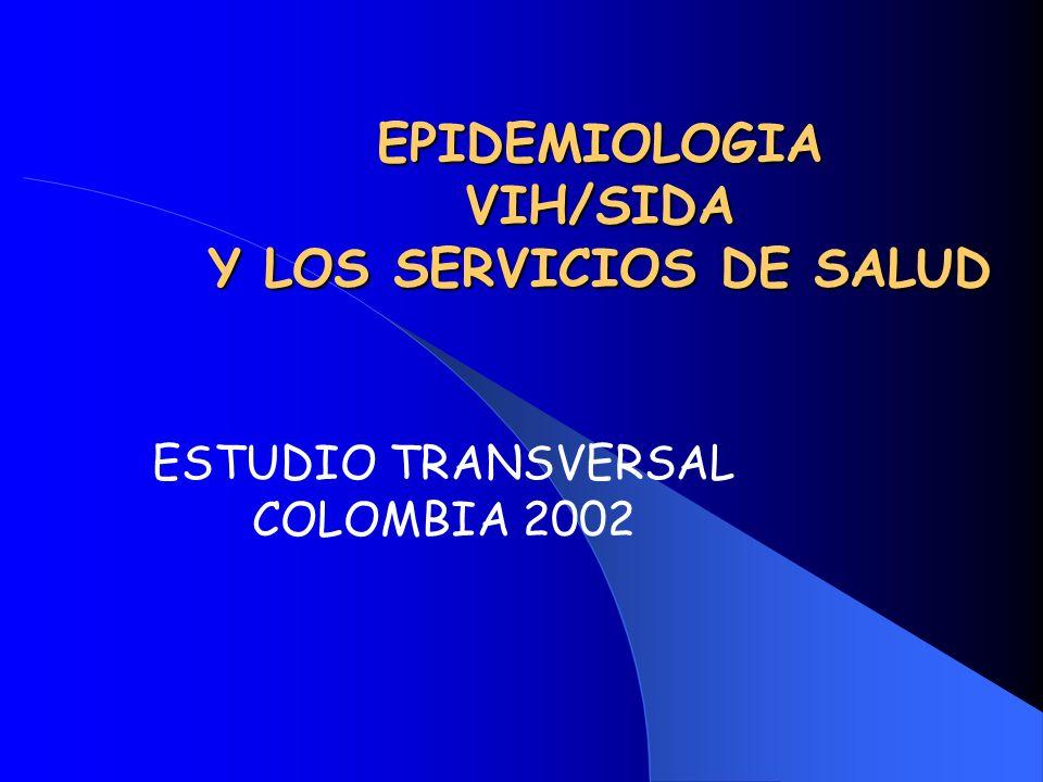 EPIDEMIOLOGIA VIH/SIDA Y LOS SERVICIOS DE SALUD