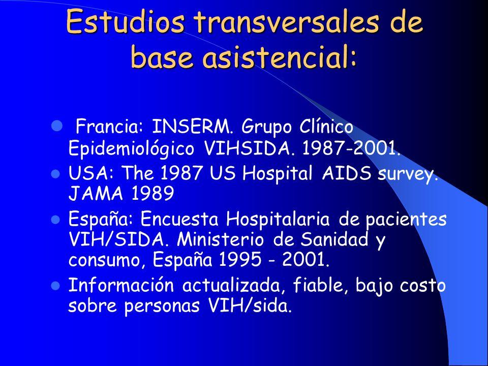 Estudios transversales de base asistencial: