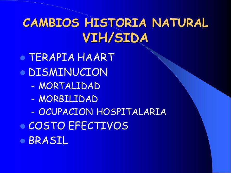 CAMBIOS HISTORIA NATURAL VIH/SIDA