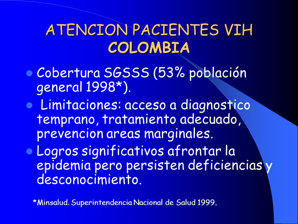 ATENCION PACIENTES VIH COLOMBIA