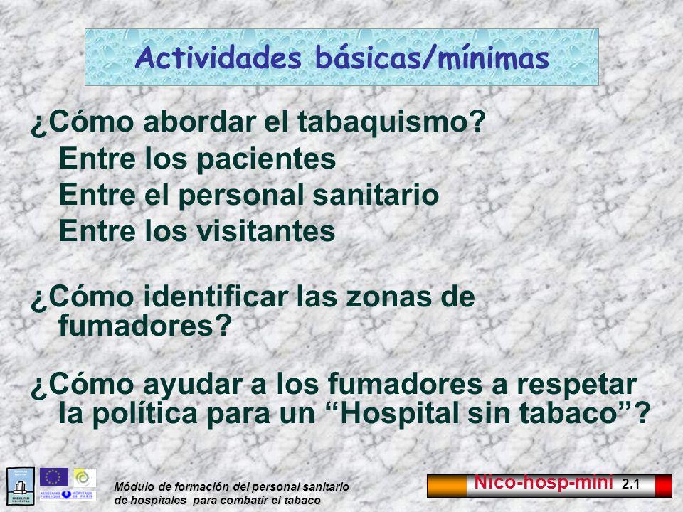Actividades básicas/mínimas