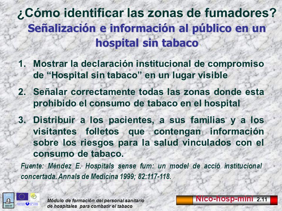 ¿Cómo identificar las zonas de fumadores