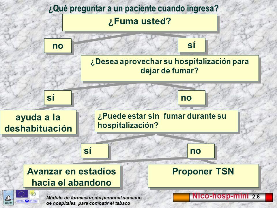 ¿Qué preguntar a un paciente cuando ingresa
