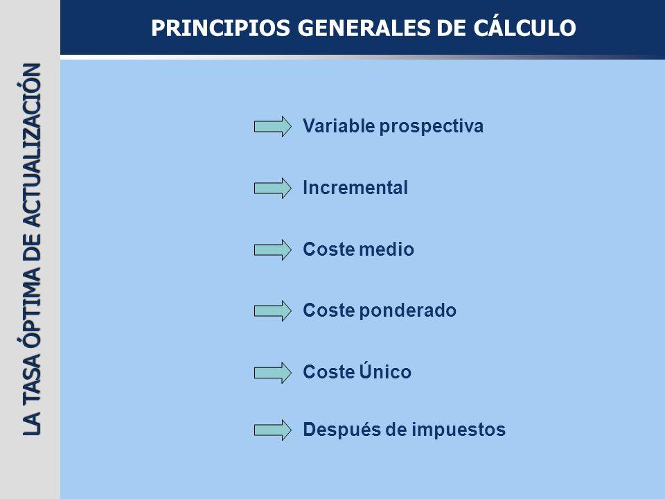 PRINCIPIOS GENERALES DE CÁLCULO