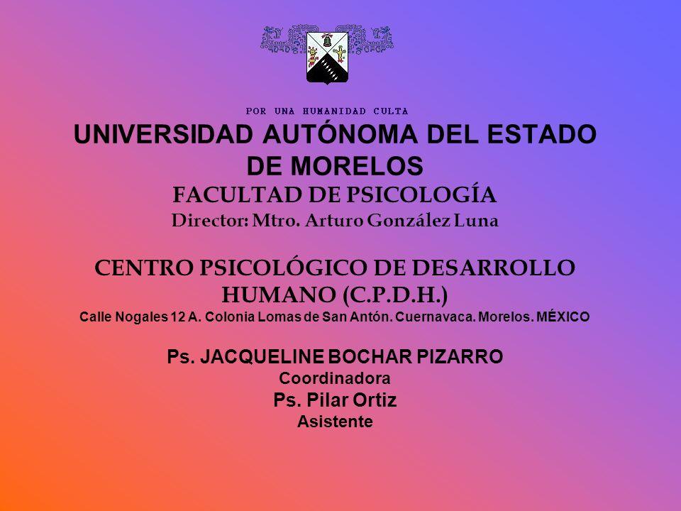 UNIVERSIDAD AUTÓNOMA DEL ESTADO DE MORELOS FACULTAD DE PSICOLOGÍA Director: Mtro.
