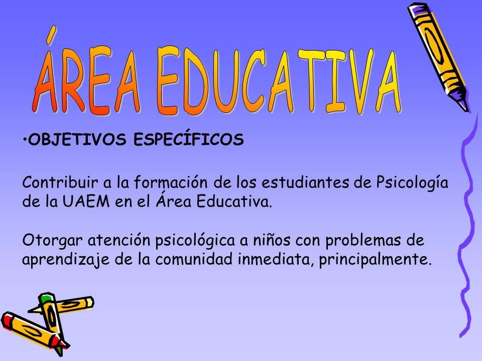 ÁREA EDUCATIVA OBJETIVOS ESPECÍFICOS