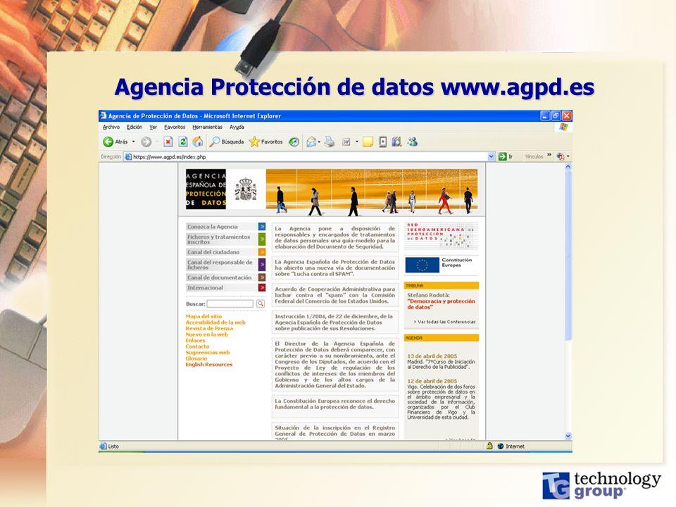 Agencia Protección de datos www.agpd.es