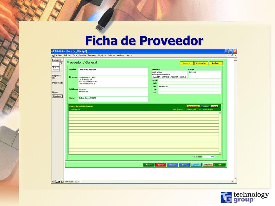 Ficha de Proveedor