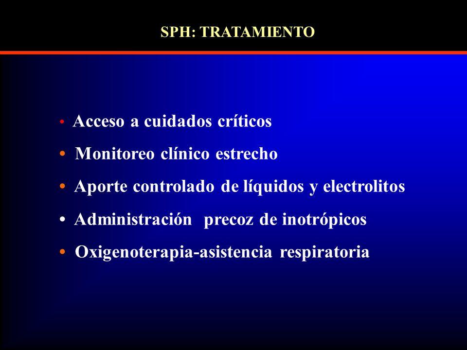 • Monitoreo clínico estrecho