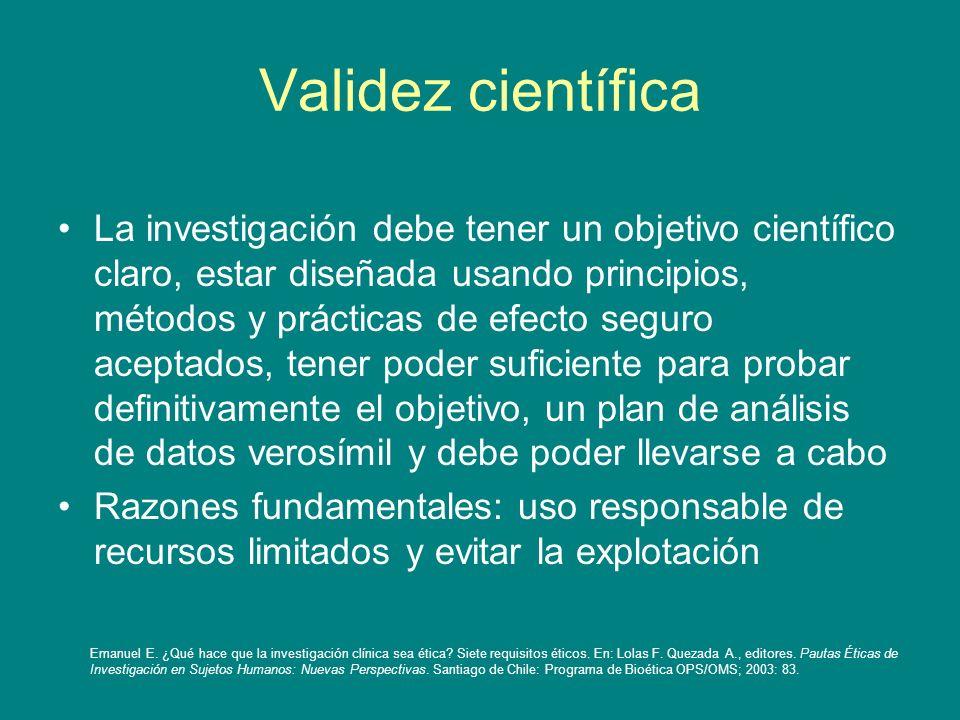Validez científica