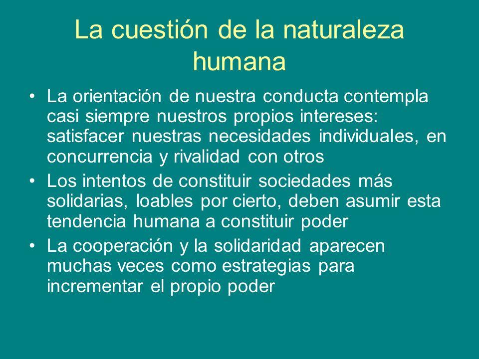 La cuestión de la naturaleza humana