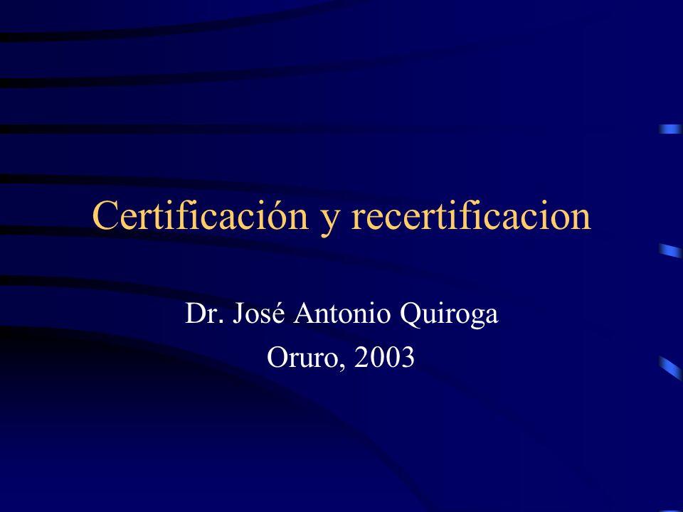 Certificación y recertificacion