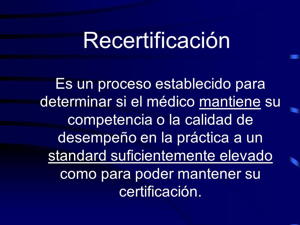 Recertificación