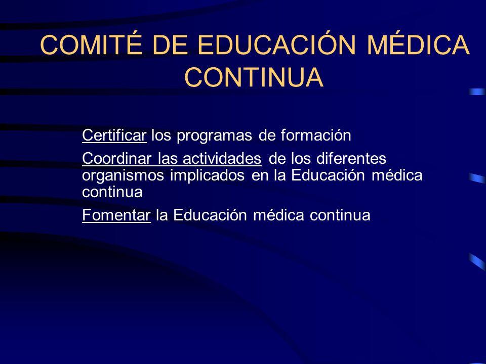 COMITÉ DE EDUCACIÓN MÉDICA CONTINUA
