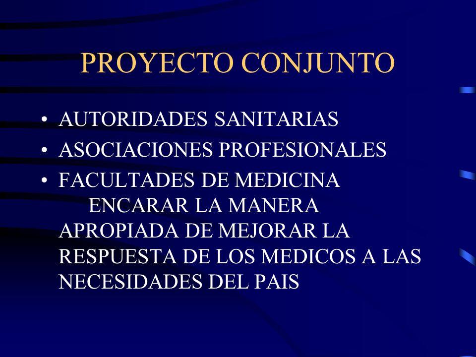 PROYECTO CONJUNTO AUTORIDADES SANITARIAS ASOCIACIONES PROFESIONALES
