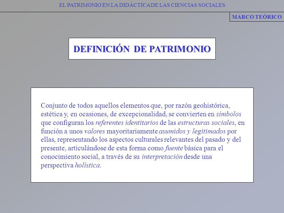 DEFINICIÓN DE PATRIMONIO