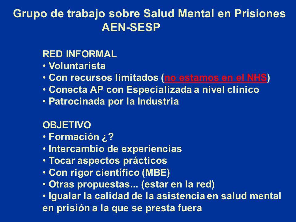 Grupo de trabajo sobre Salud Mental en Prisiones AEN-SESP