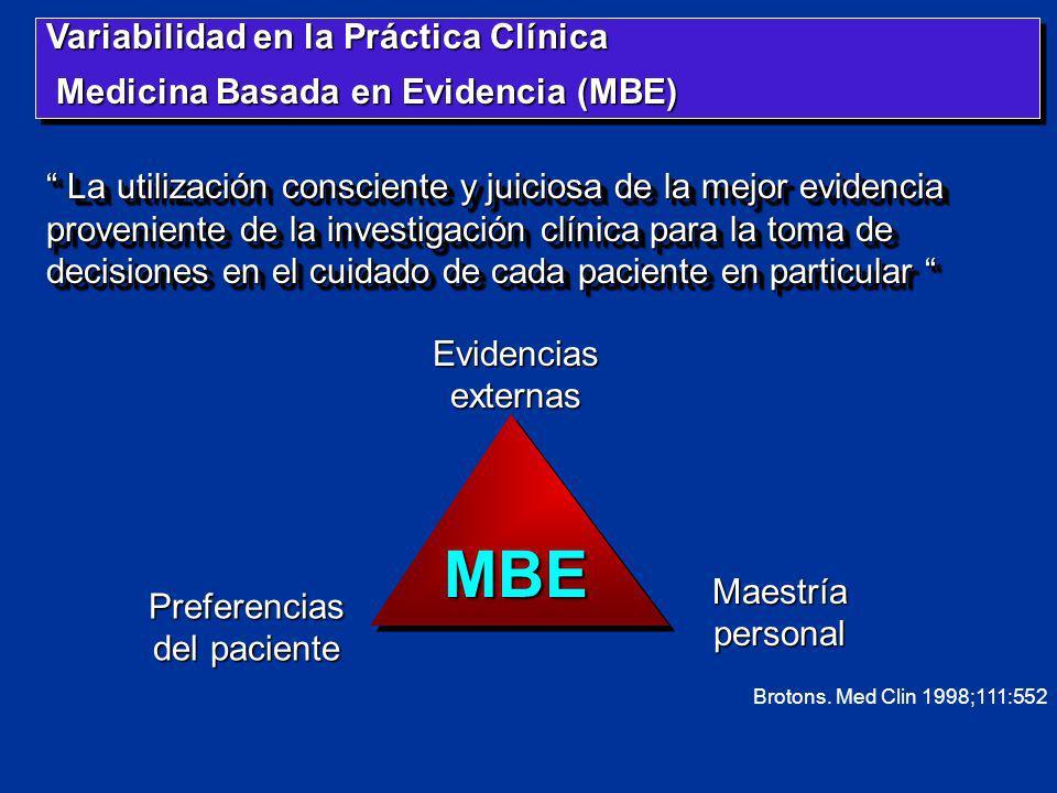 MBE Variabilidad en la Práctica Clínica