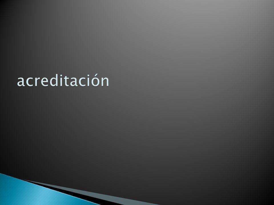 acreditación