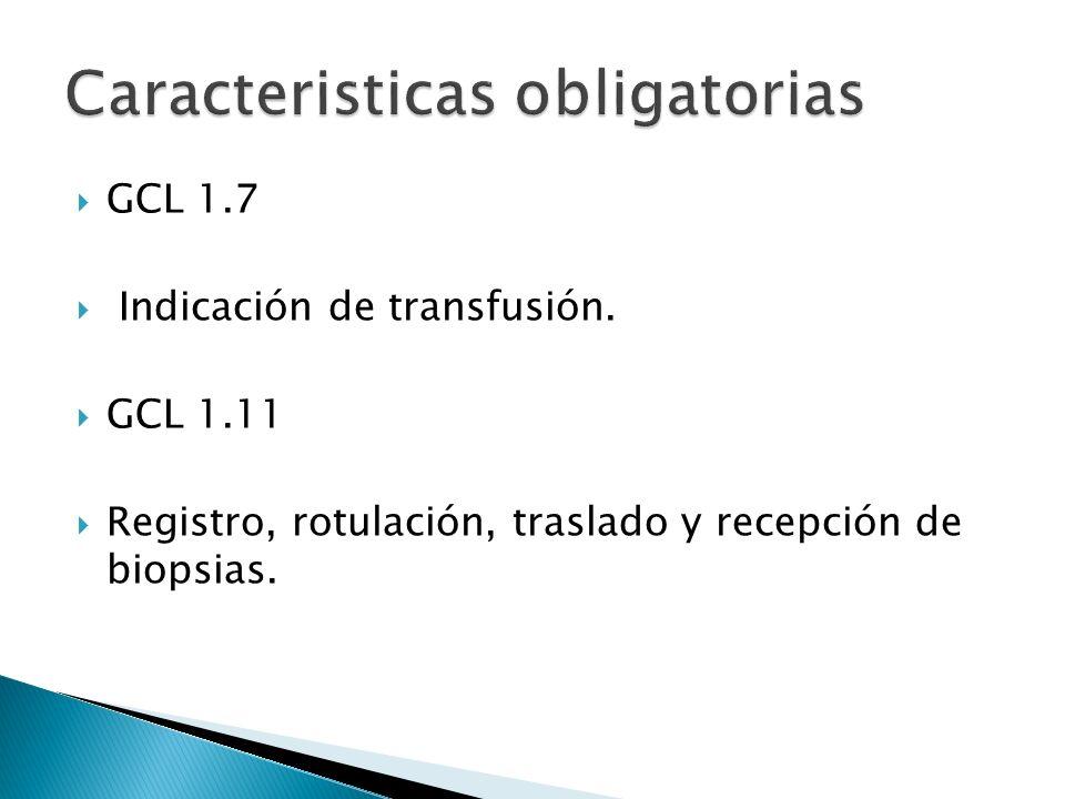 Caracteristicas obligatorias