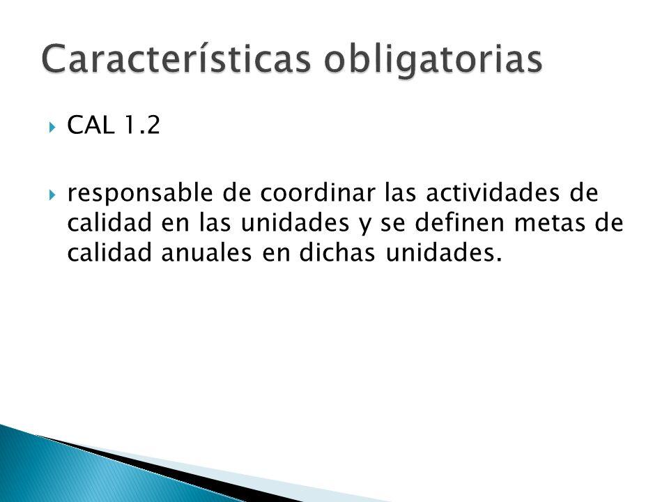 Características obligatorias