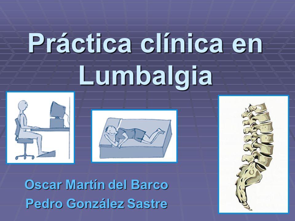 Práctica clínica en Lumbalgia