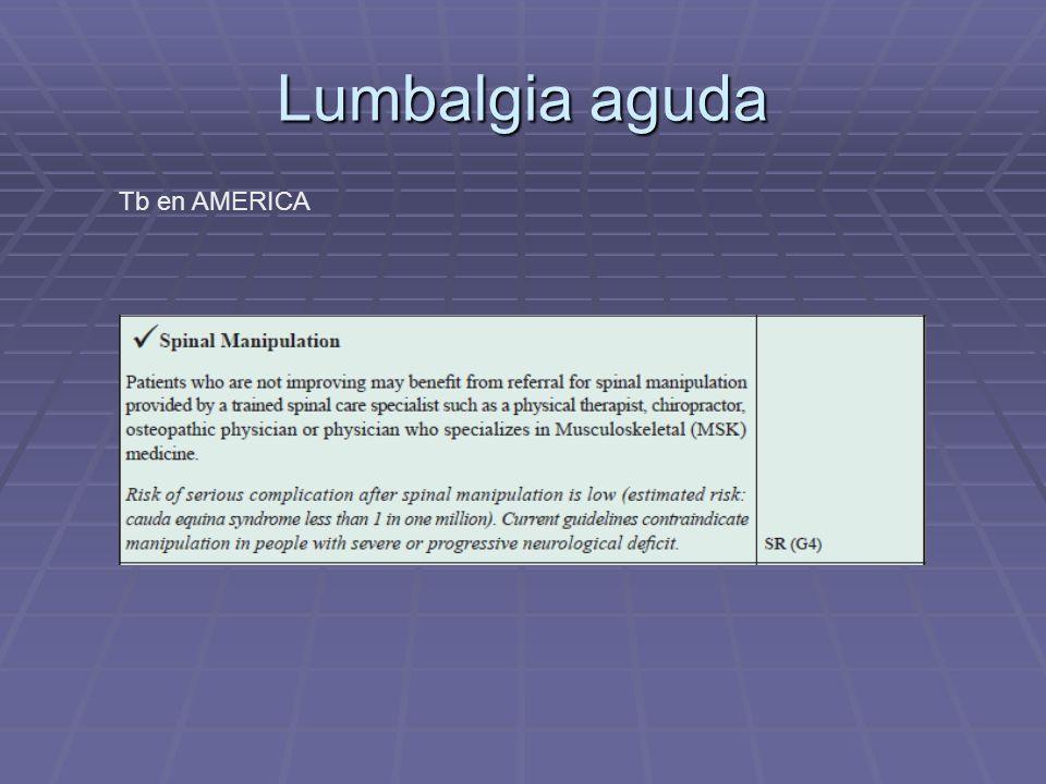 Lumbalgia aguda Tb en AMERICA