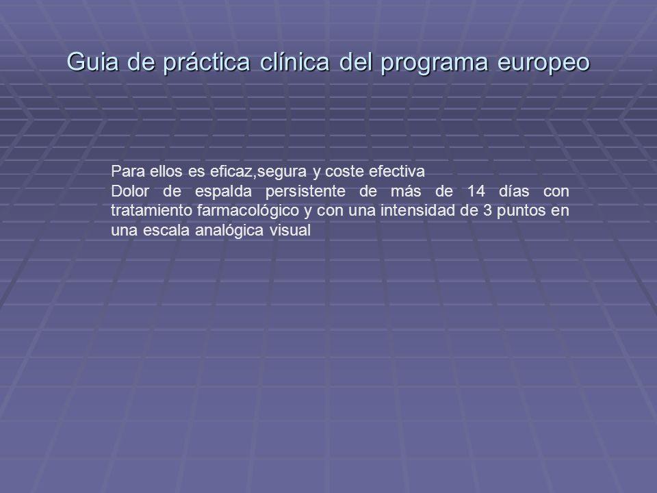 Guia de práctica clínica del programa europeo