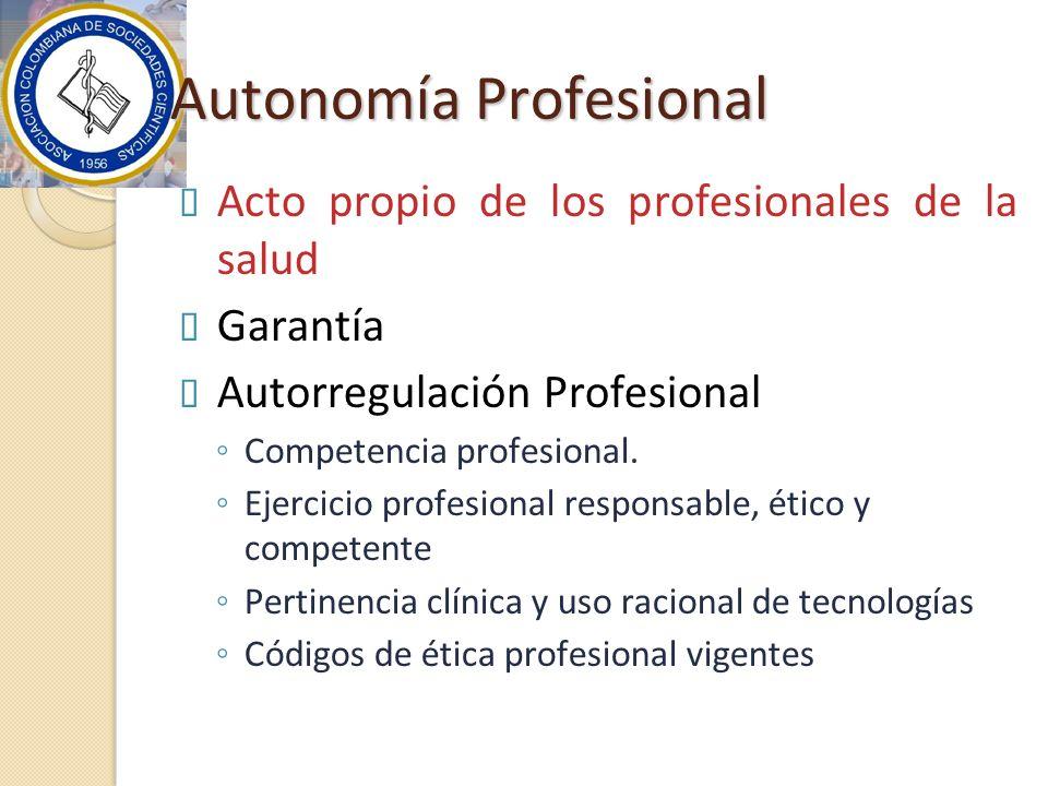 Autonomía Profesional