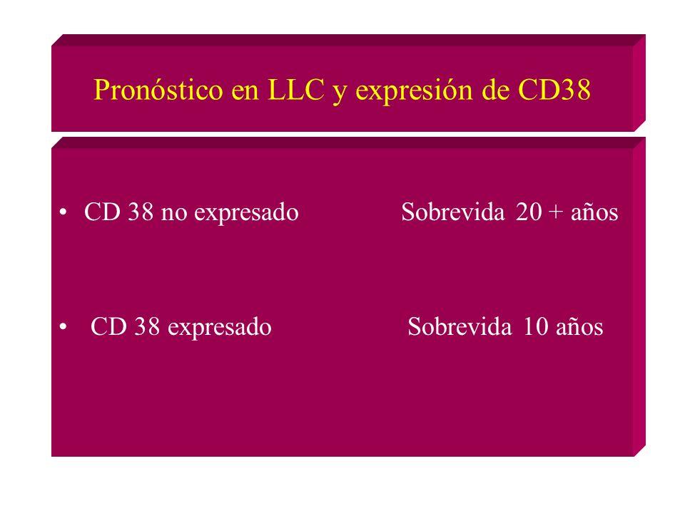 Pronóstico en LLC y expresión de CD38