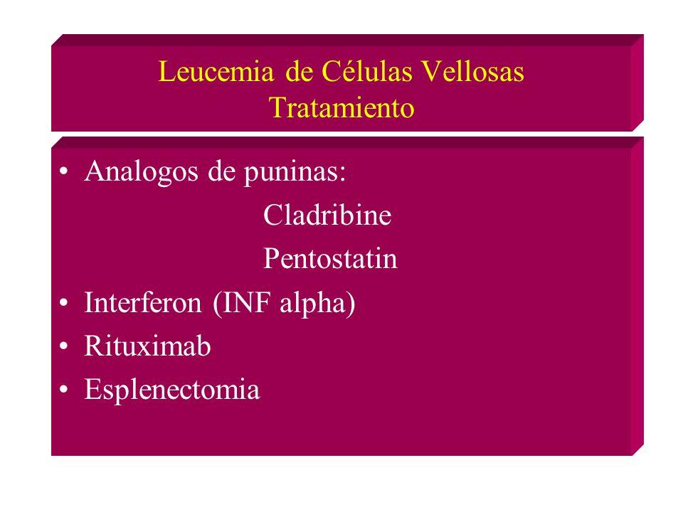 Leucemia de Células Vellosas Tratamiento
