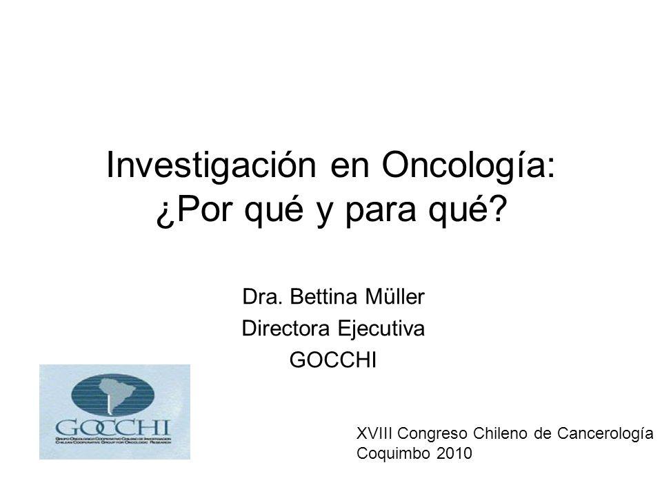 Investigación en Oncología: ¿Por qué y para qué