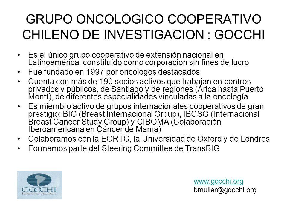 GRUPO ONCOLOGICO COOPERATIVO CHILENO DE INVESTIGACION : GOCCHI