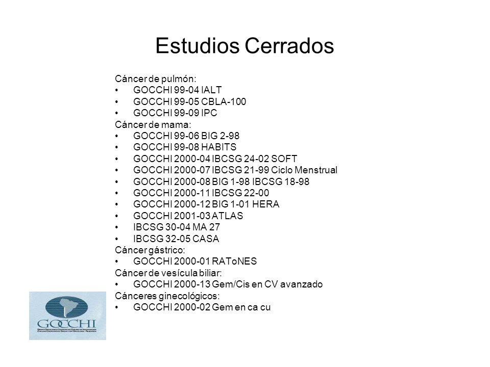 Estudios Cerrados Cáncer de pulmón: GOCCHI 99-04 IALT