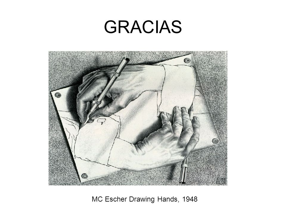 GRACIAS MC Escher Drawing Hands, 1948